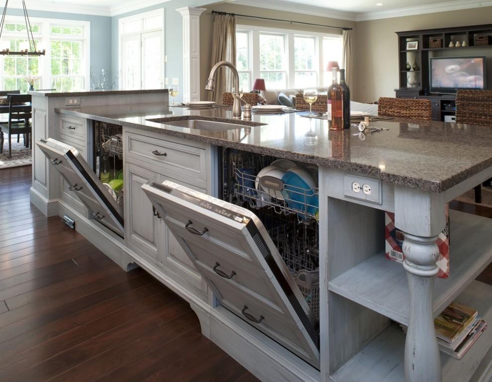 Встроенные посудомоечные машины в интерьере кухни от Mullet Cabinet