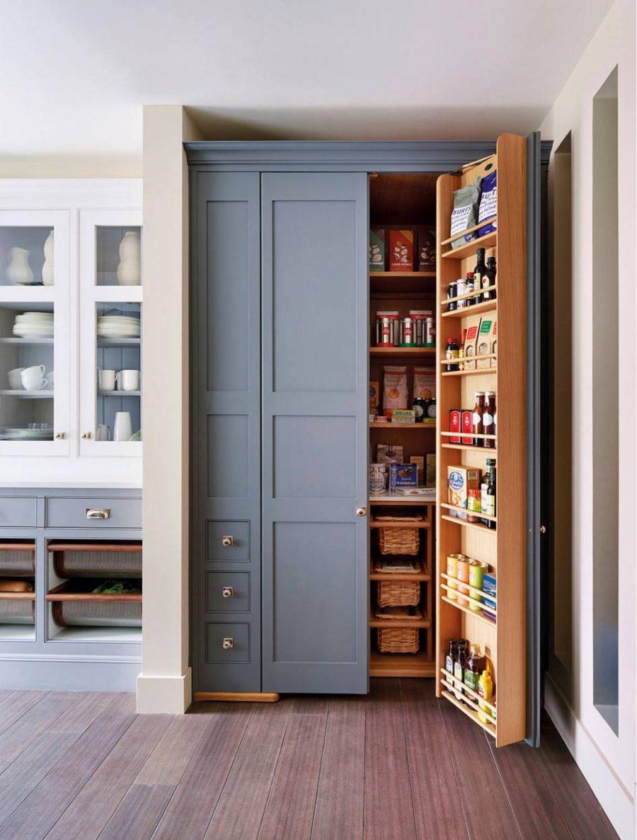Хранение на кухне - высокий шкаф