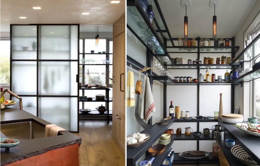 Хранение на кухне - хранилище в шкафу