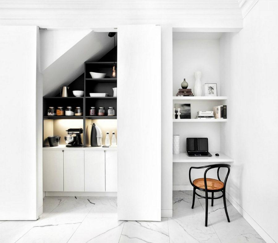 Хранение на кухне - минимализм