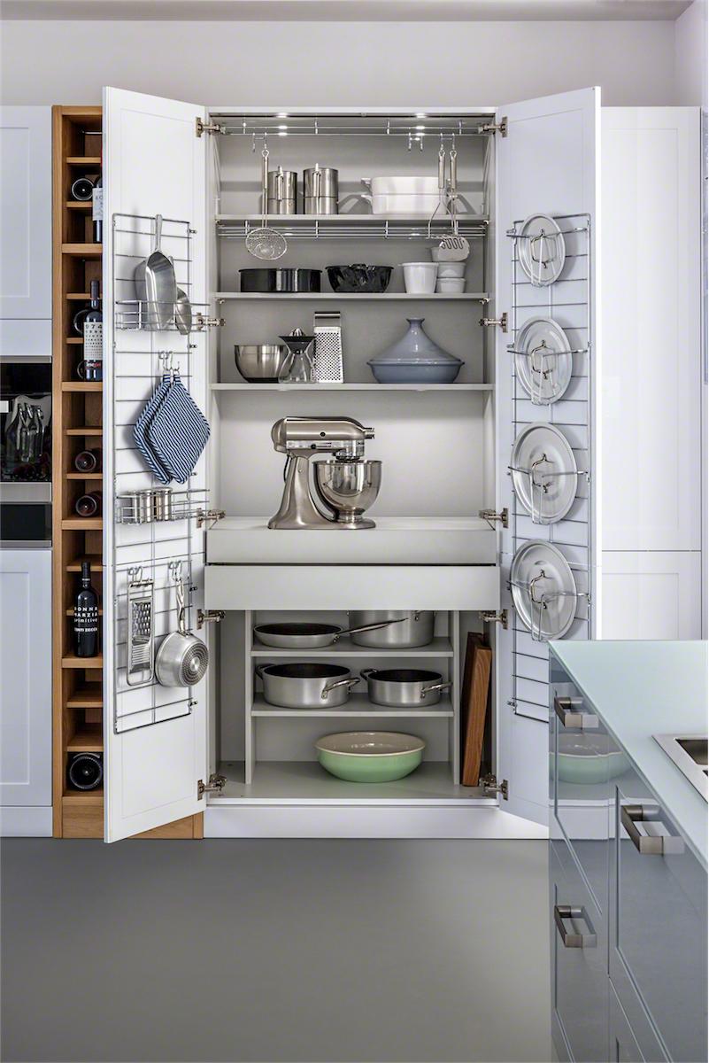 Хранение на кухне - металл в дизайне