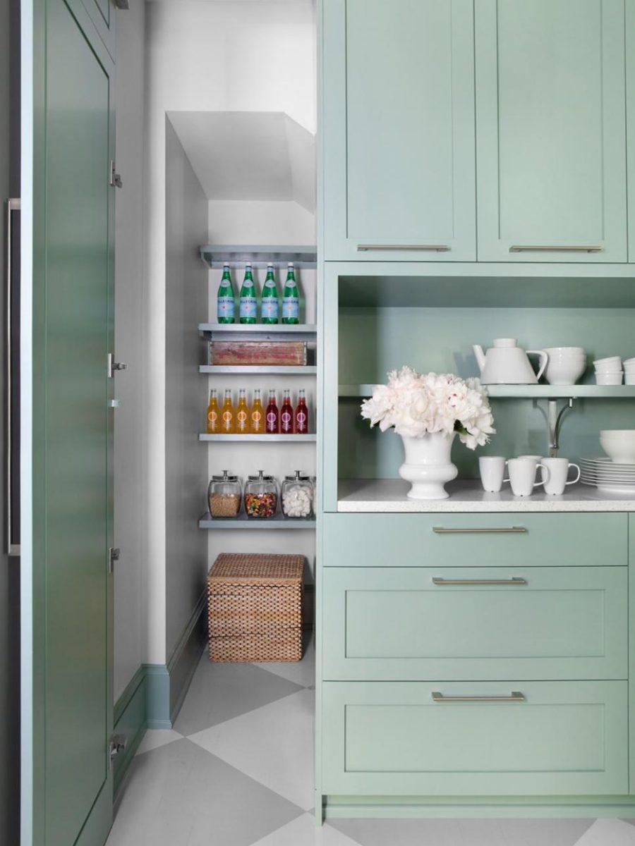 Хранение на кухне - потайная дверь