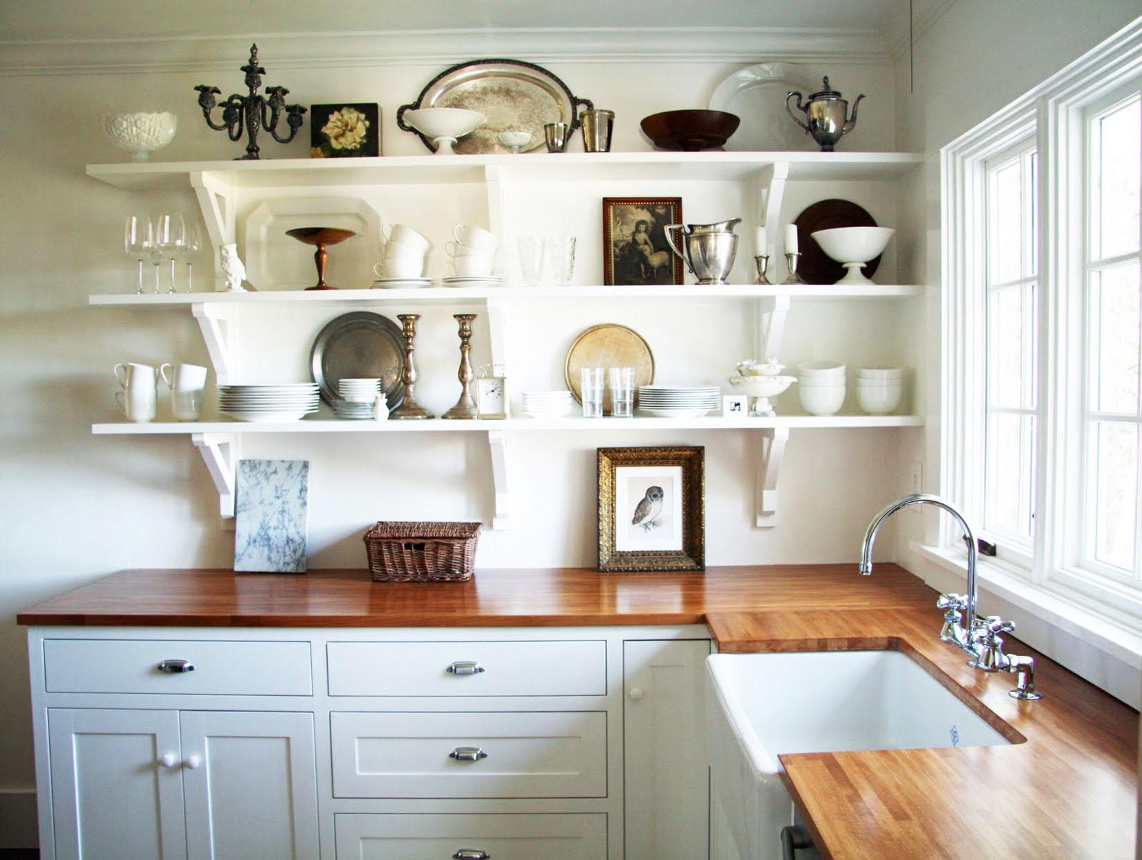 привыкли кухни с полками вместо навесных шкафов фото спинного мозга отходят