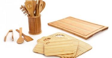 Кухонные аксессуары из бамбука