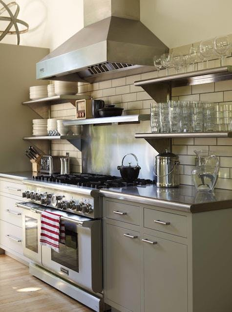 Оригинальный дизайн кухни с промышленном стиле