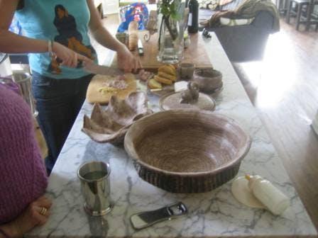 Мраморная столешница на кухне
