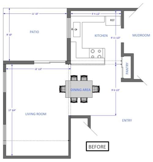 План интерьера кухни с оригинальным кухонным островом - Фото 1