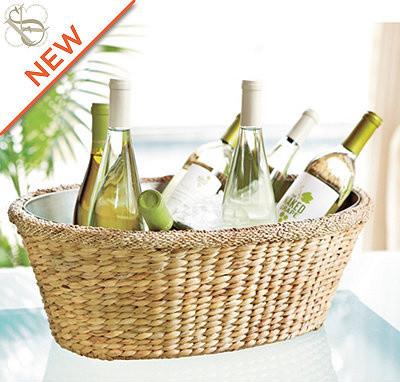 Плетеная корзина для винных бутылок