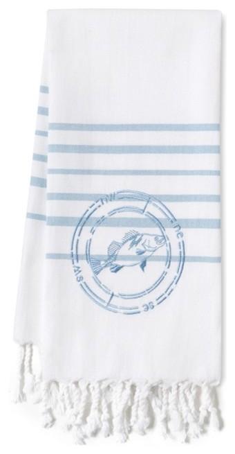 Хлопковое полотенце с морским рисунком