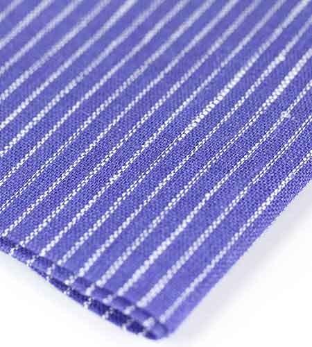 Салфетка синяя с тонкими белыми полосами