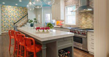 18 сочных решений для кухни: оригинальные барные стулья – сила в цвете