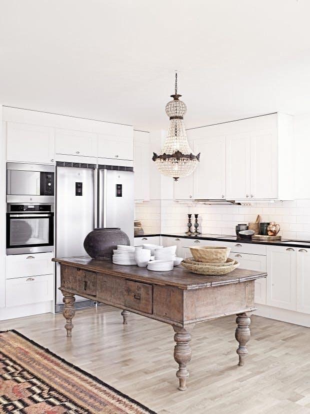 Идеи недорогого ремонта кухни: разноцветная кухня