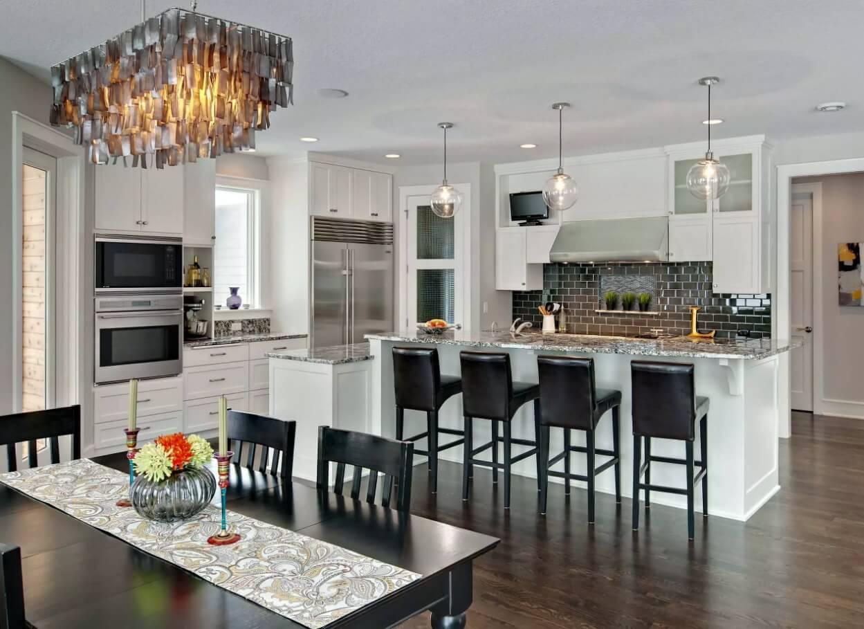 Освещение на кухне: оригинальный дизайн люстры