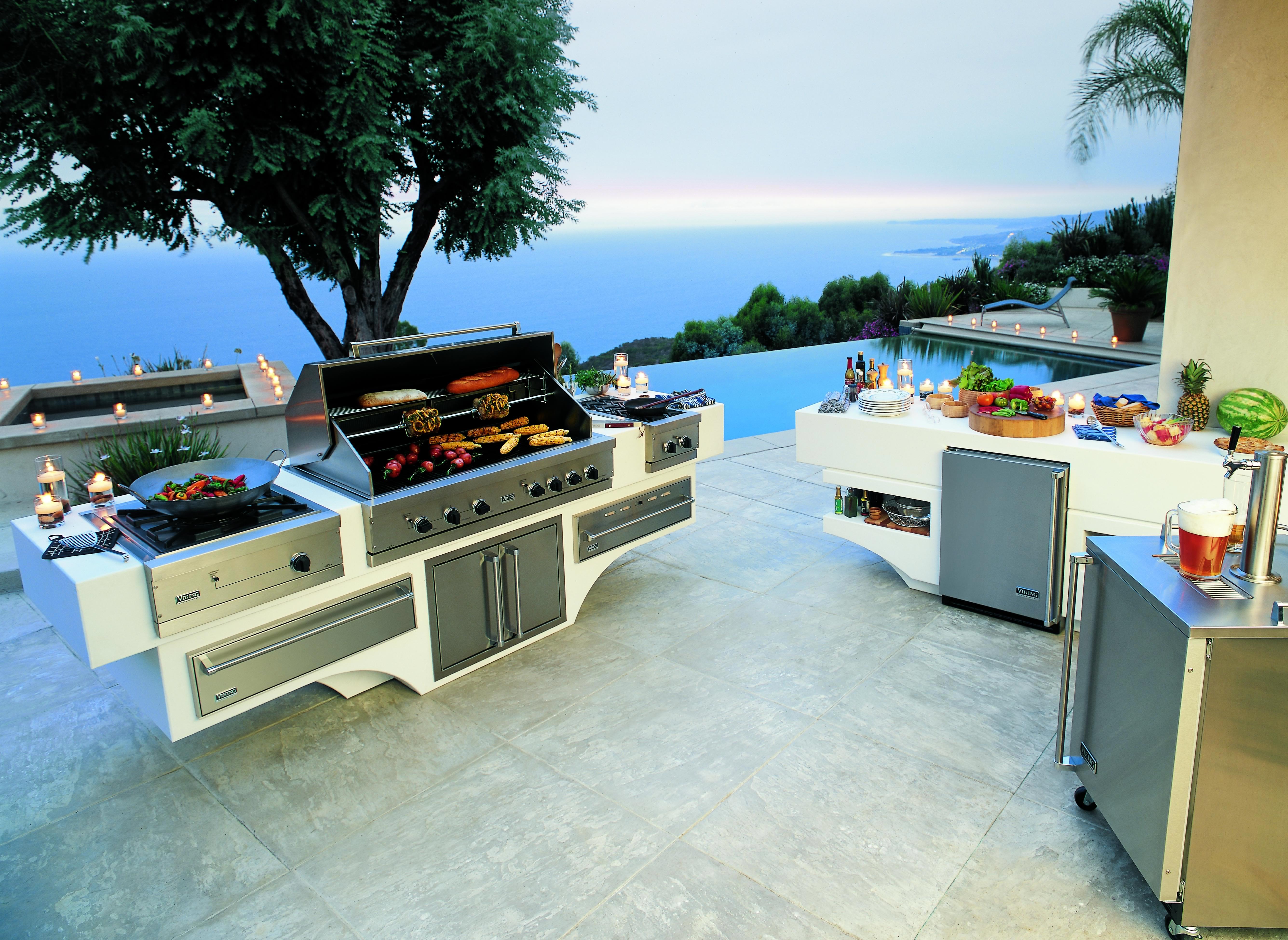 Современная летняя кухня