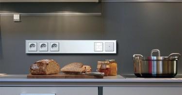 Расположение розеток в интерьере кухни