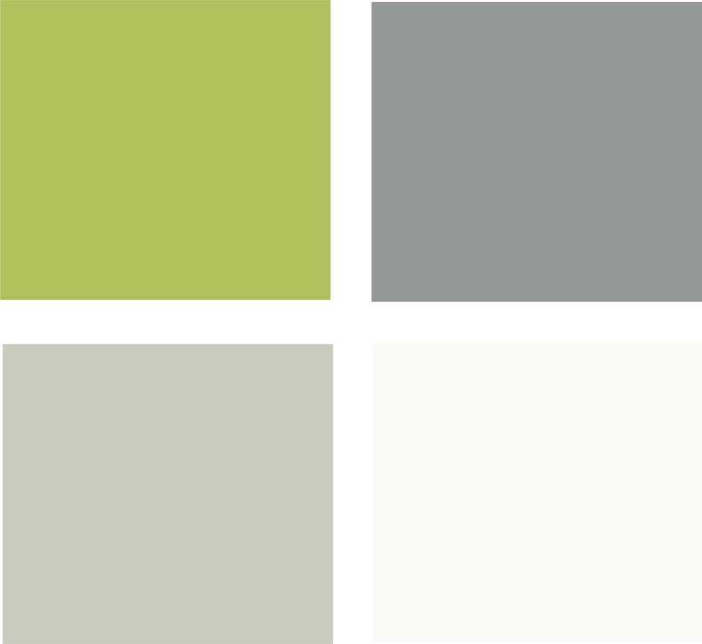 Палитра контраста яркого салатового и нейтральных оттенков серого