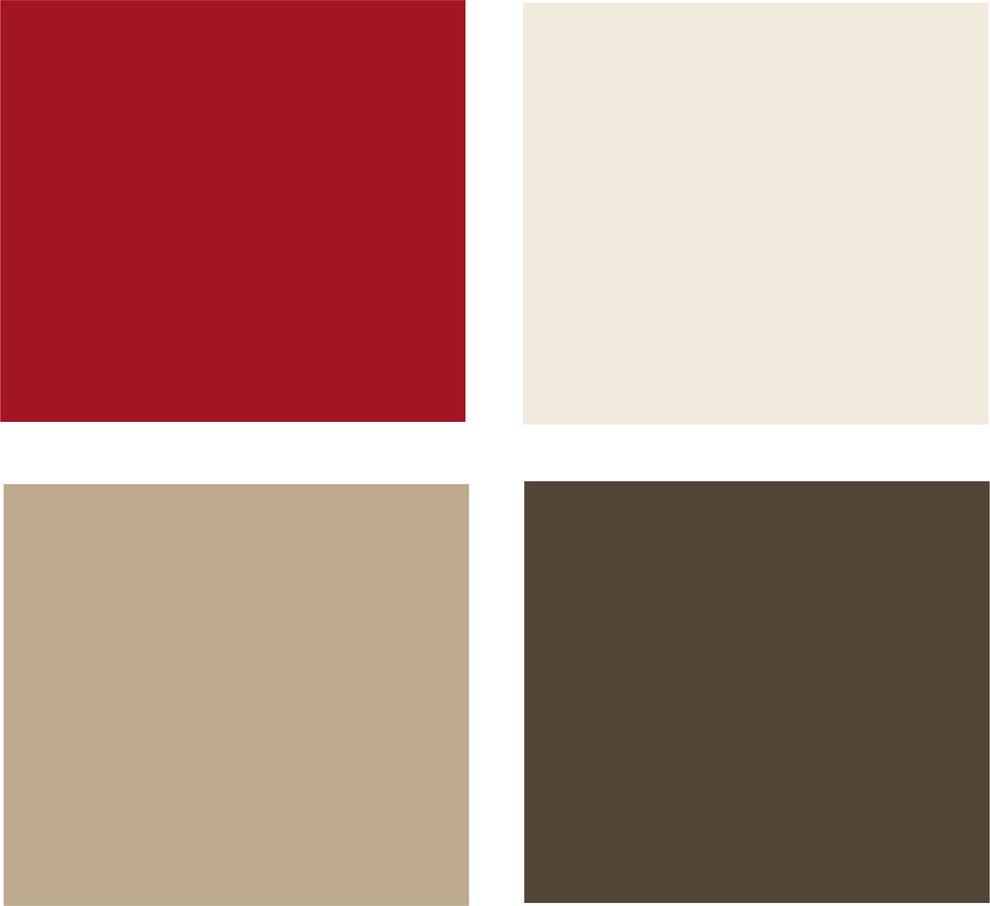 Палитра оттенков красного и шоколадного