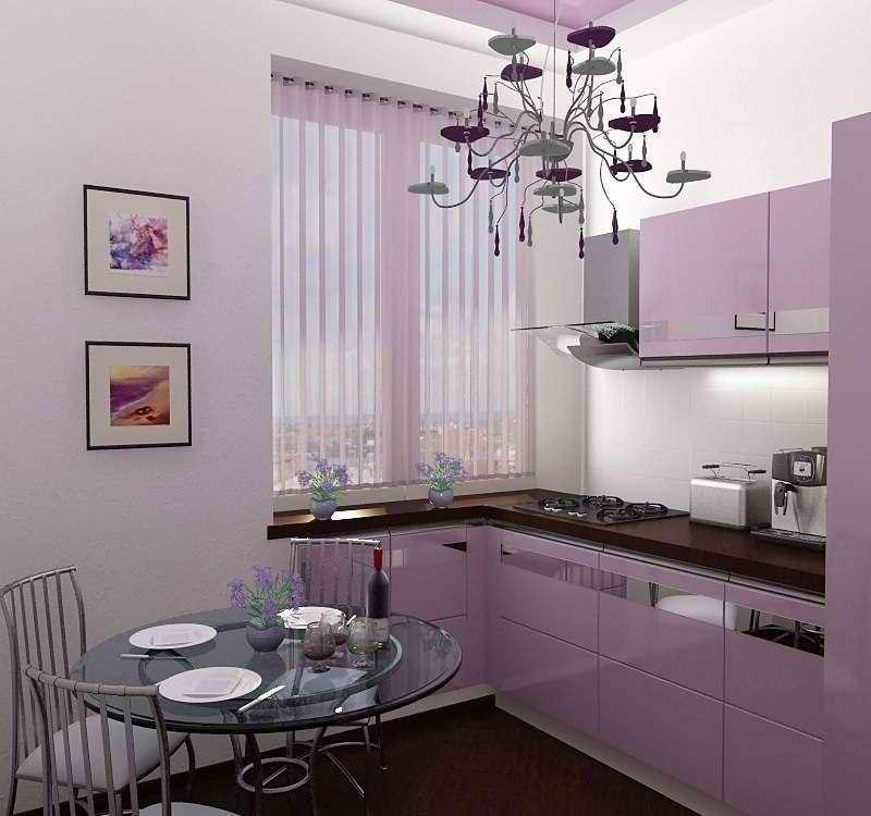 Фото розовых кухонь