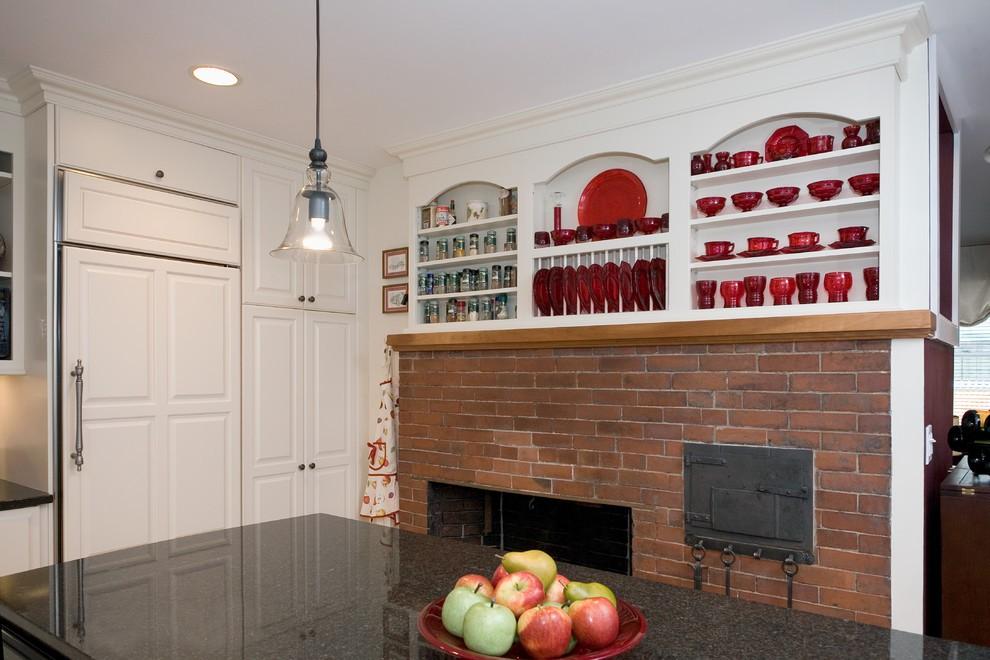 Дизайн-идея расположения сушилки для тарелок в интерьере кухни от Divine Design+Build