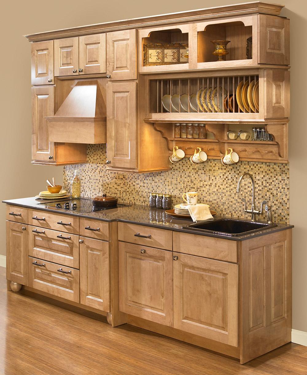 Сушилка для тарелок в интерьере кухни как часть мебельного гарнтура