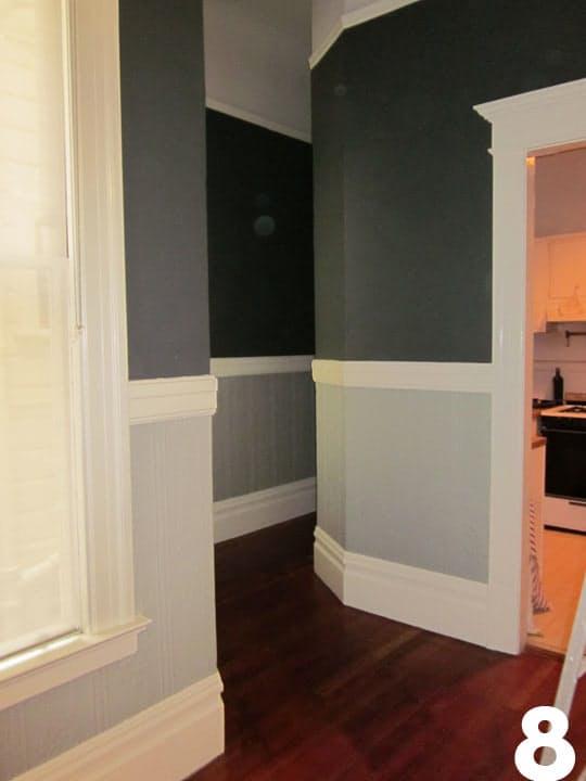 Подбор цвета для кухни: серые оттенки в коридоре