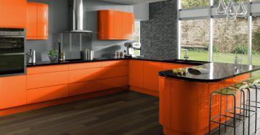 Подбор цвета для кухни: оранжевый и серый