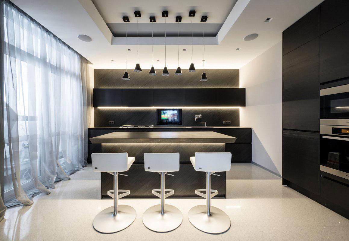 Подвесные светильники для кухни - Фото 20