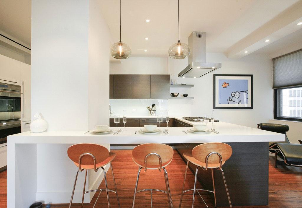 Подвесные светильники для кухни - Фото 30