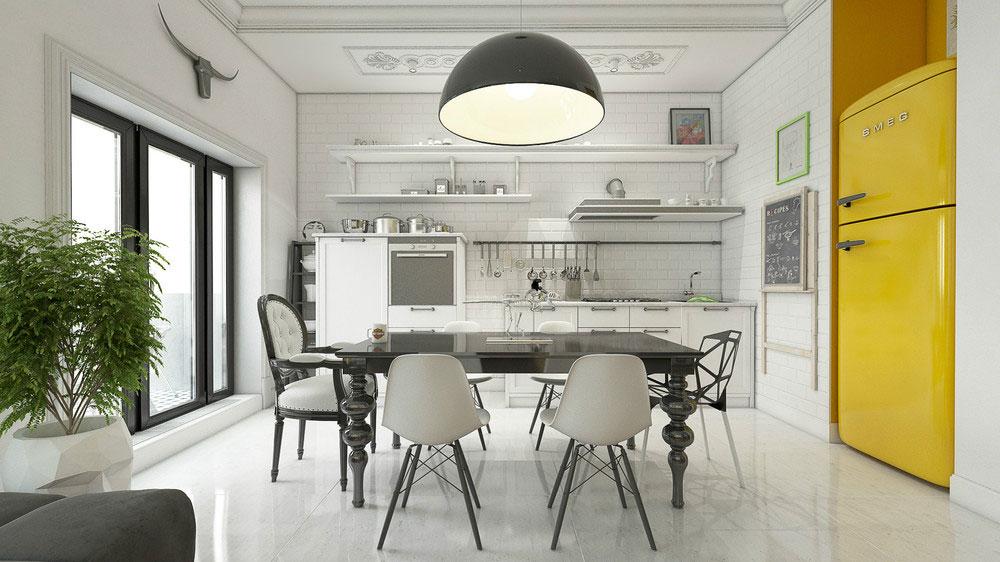 Подвесные светильники для кухни - Фото 37