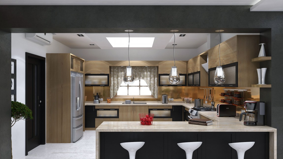 Подвесные светильники для кухни - Фото 42