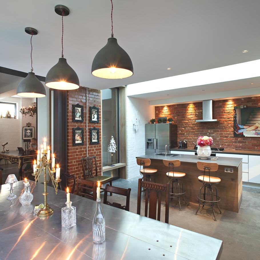 Подвесные светильники для кухни - Фото 48