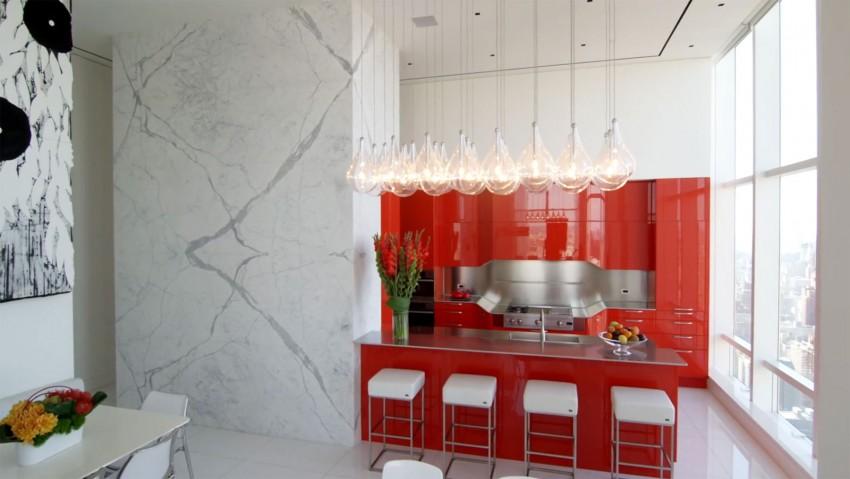 Подвесные светильники для кухни - Фото 52