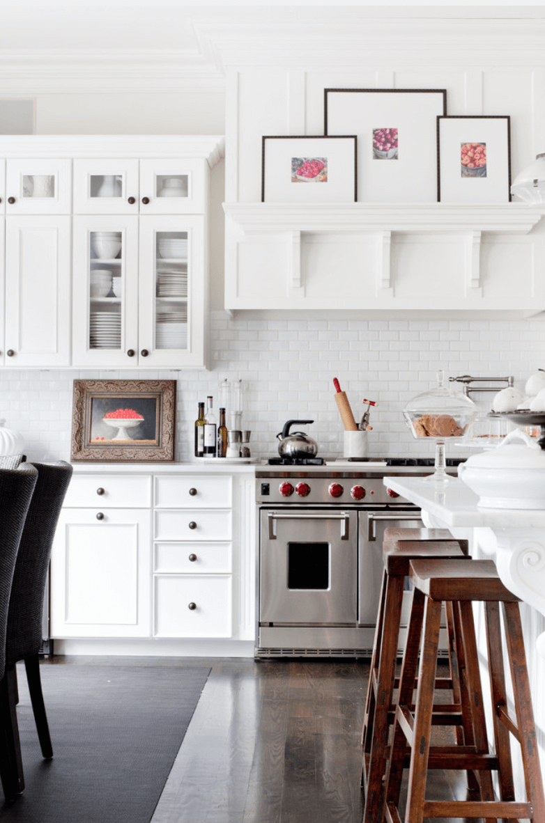 Использование картин для декора кухни