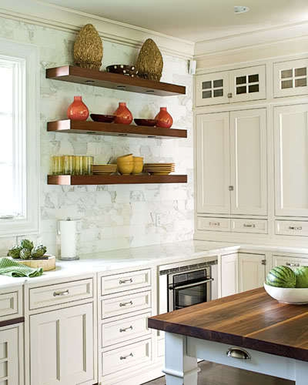 Open kitchen wall