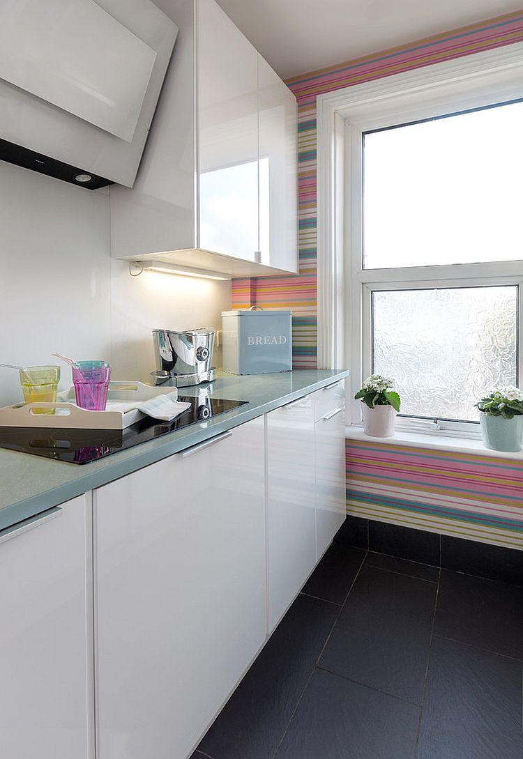 Полоски в интерьере кухни - Фото 1