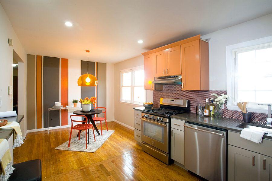 Полоски в интерьере кухни - Фото 2