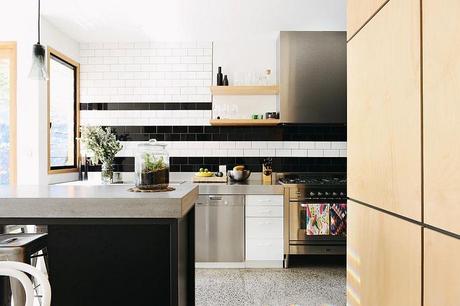 Полоски в интерьере кухни - Фото 3