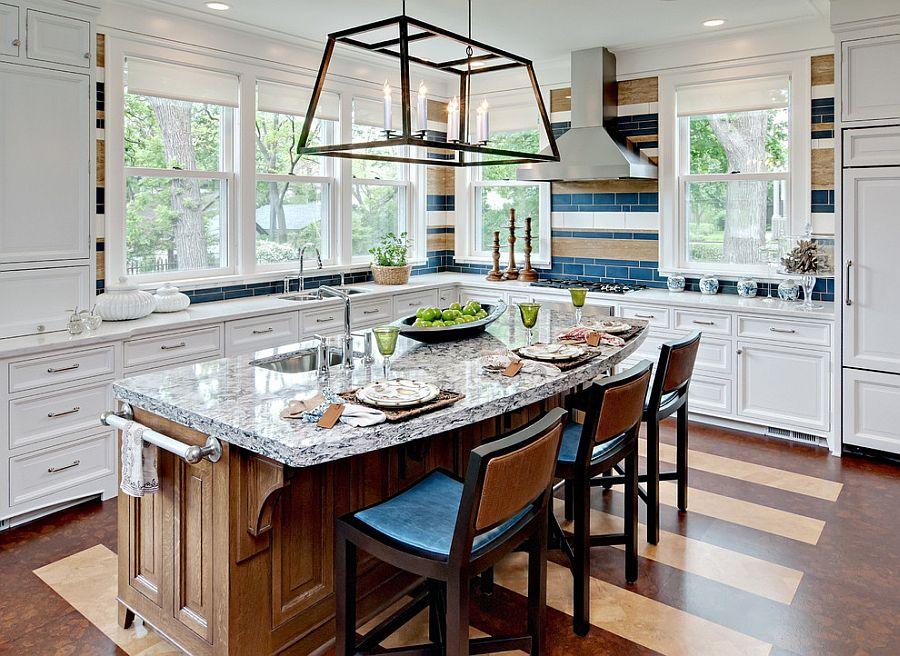 Полоски в интерьере кухни - Фото 4