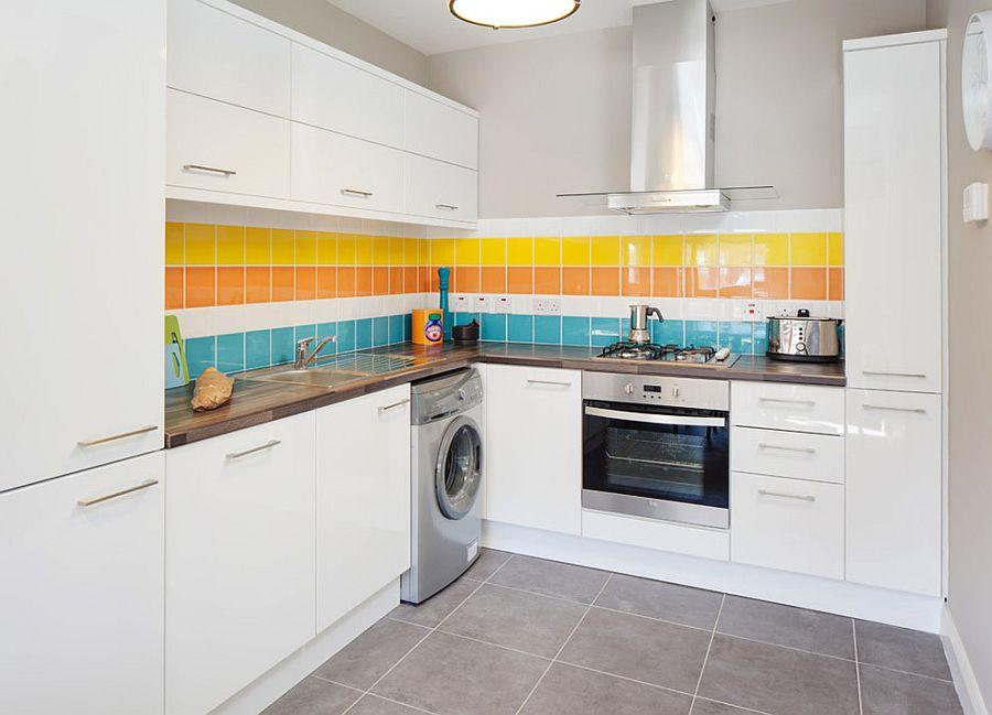 Полоски в интерьере кухни - Фото 5