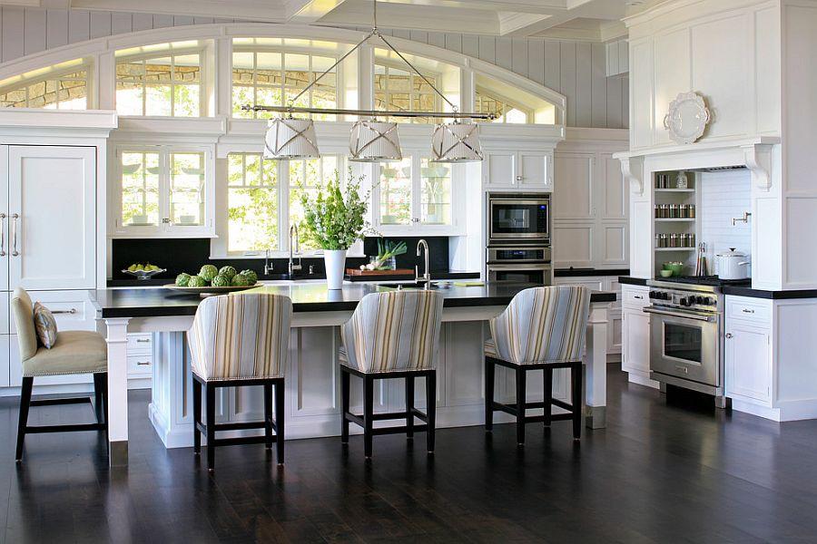 Полоски в интерьере кухни - Фото 7
