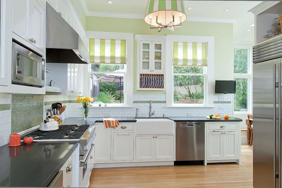 Полоски в интерьере кухни - Фото 8
