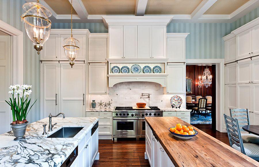 Полоски в интерьере кухни - Фото 11
