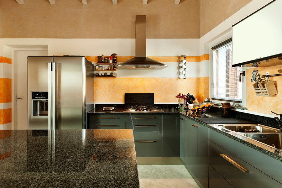 Полоски в интерьере кухни - Фото 12