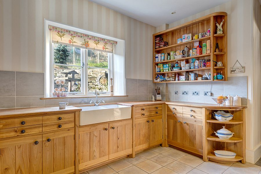 Полоски в интерьере кухни - Фото 13