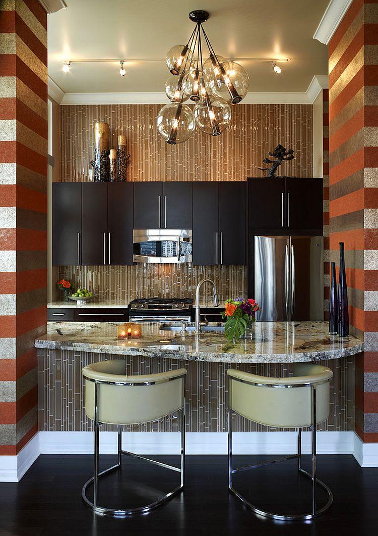 Полоски в интерьере кухни - Фото 14