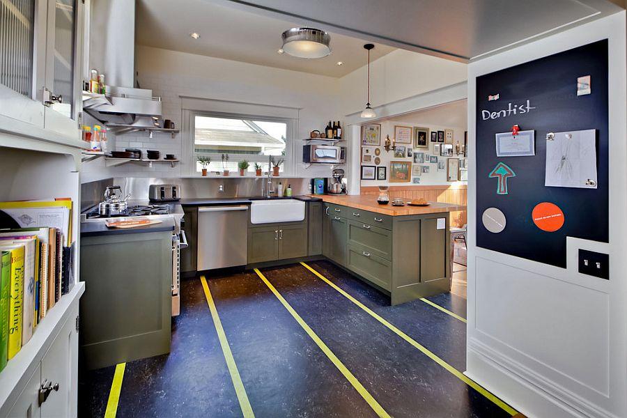 Полоски в интерьере кухни - Фото 16