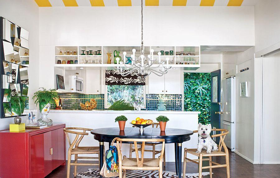Полоски в интерьере кухни - Фото 17