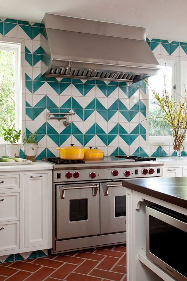 Полоски в интерьере кухни - Фото 18