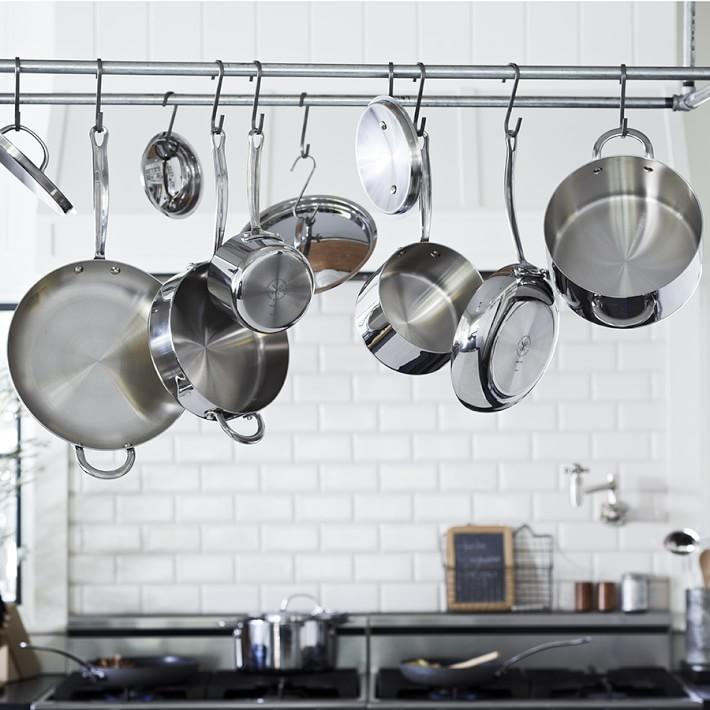 Набор кухонной посуды из нержавеющей стали: 10 предметов