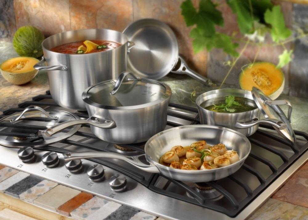 Набор посуды из нержавеющей стали Calphalon
